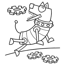 robot coloring pages doggy robot