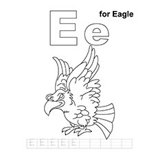 E For Eagle Coloring Sheet
