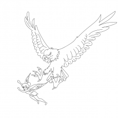 Eagle Attacking Tinker Bell Coloring To print