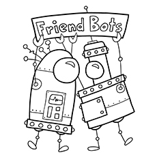 robot coloring pages friend bots