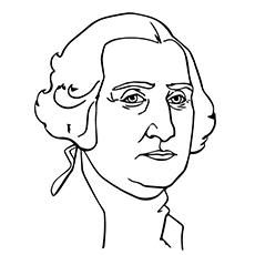 George Washington During Early Age Coloring Sheet
