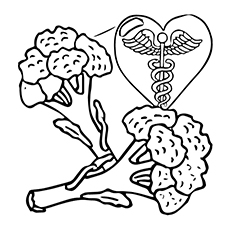 Broccoli Coloring Page - Good For Heart