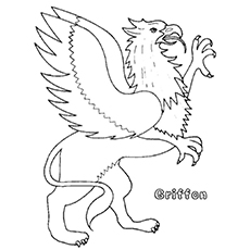 Griffon Eagle Coloring Sheet