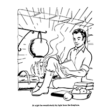 Abraham Lincoln Coloring Pages Hardworking