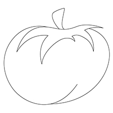 Tomato Coloring Page - Heirloom Tomato
