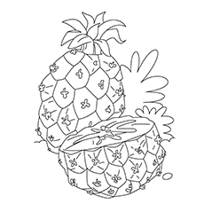 Pineapple Coloring Page - Juicy Pineapple