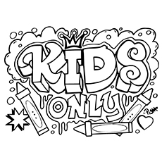graffiti coloring pages kids only