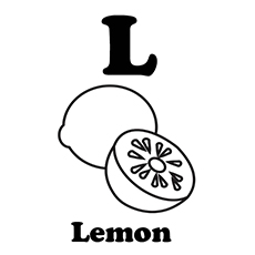 Lemon Coloring Page - L For Lemon