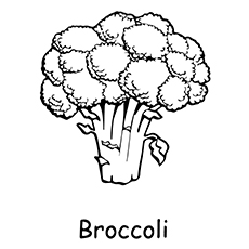 Broccoli Coloring Page - Large Headed Broccoli