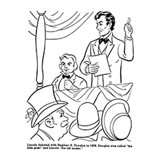 Abraham Lincoln Coloring Pages - Lincoln Debating