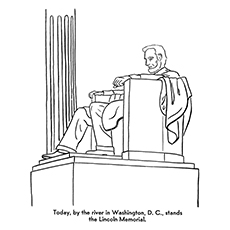 a sketch drawing of abraham lincoln coloring page. abraham lincoln ...
