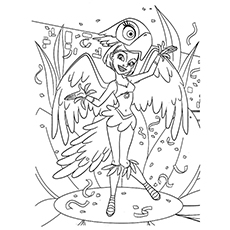 Rio Coloring Pages - Linda