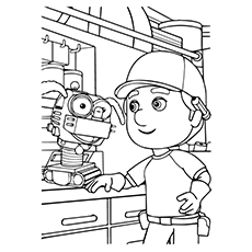 Robot Coloring Pages   Irona. Manny With Fix It