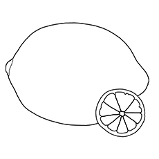 Lemon Coloring Page - Meyer Lemon