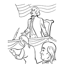 Mr. President George Washington Image to Color