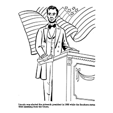 Abraham Lincoln Coloring Pages Mr President