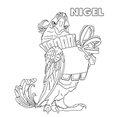 Rio Coloring Pages - Nigel