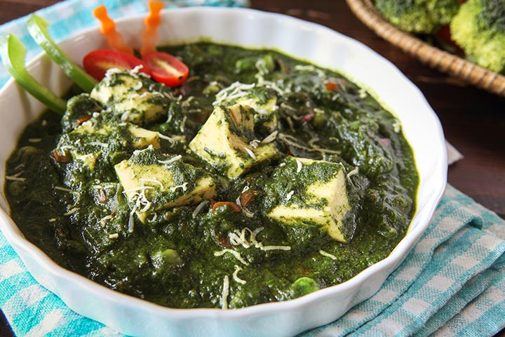 Palak Paneer (Cottage Cheese)