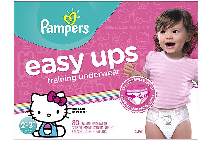 Pampers Easy Ups Training Pants Disposable Diapers Girl