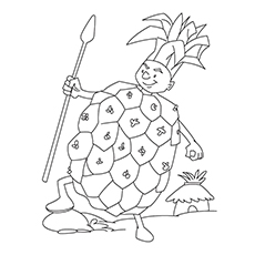 Pineapple Coloring Page - Pineapple King
