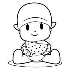 watermelon coloring pages - Slice Watermelon Coloring Page