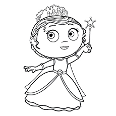 princess presto coloring page of super