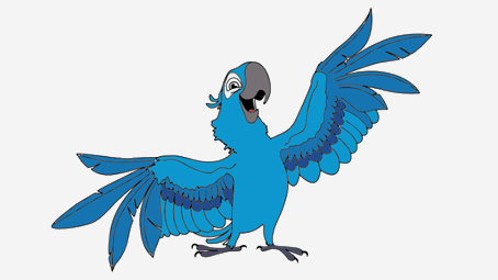 Cartoon Blue Bird Rio