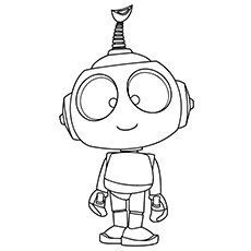 Robot Coloring Pages   Rob