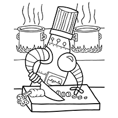 20 Cute Free Printable Robot Coloring Pages Online