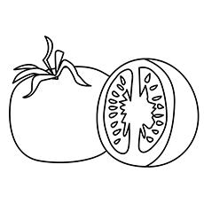 Tomato Coloring Page - Roma Tomato