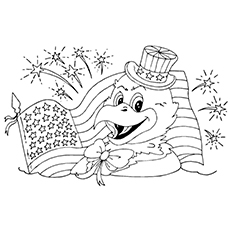 Coloring Page of Sam The Eagle