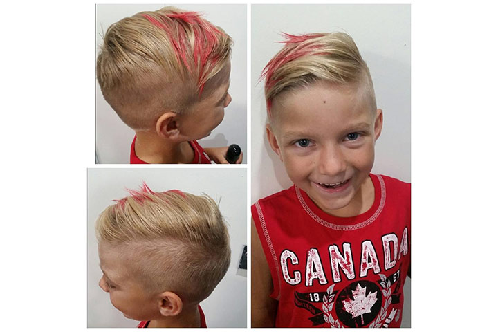 Side Swept Hair - popular hairstyles for boys Pictures