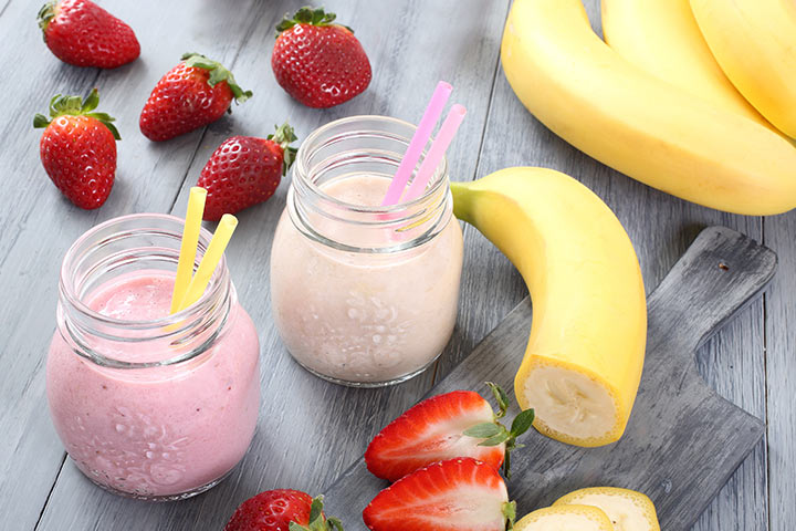 Strawberry And Banana Milkshake