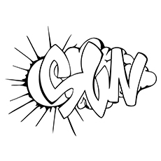 graffiti coloring pages sun