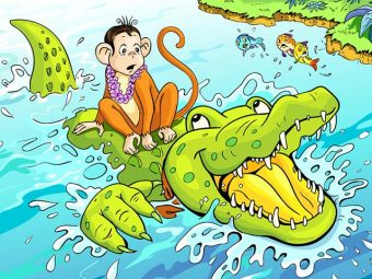 Interesting Monkey And Crocodile Story For Kids