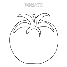 Tomato Coloring Page - Tomato Worksheet