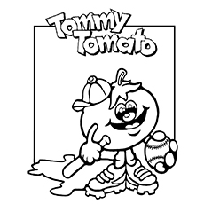 Tomato Coloring Page - Tommy Tomato