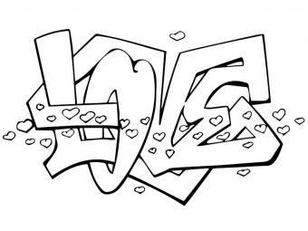 Top 10 Graffiti Coloring Pages For Your Little Ones