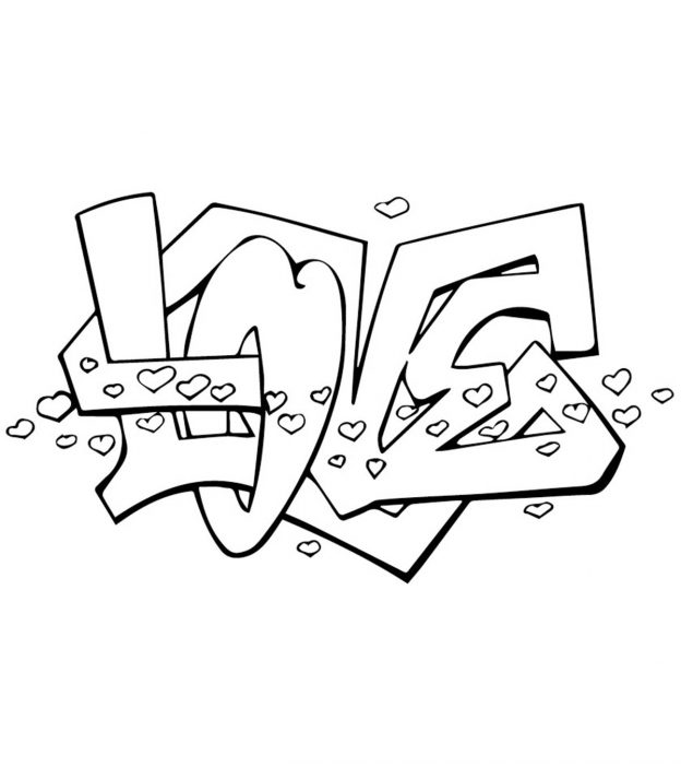 mom junction printable coloring pages   Top 10 Free Printable Graffiti Coloring Pages Online