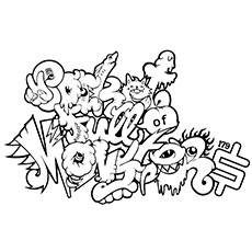 top 10 free printable graffiti coloring pages online - Coloring Stencils