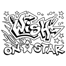 graffiti coloring pages wild style wish on star