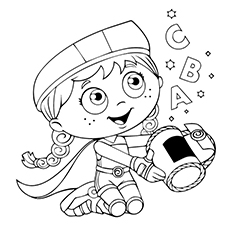 Top 12 Super Why Coloring Pages For Your Toddler