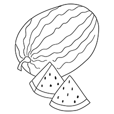 Watermelon Coloring Page - Yellow Watermelon