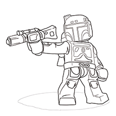 Boba Fett Coloring Page - Young Boba In His Armor