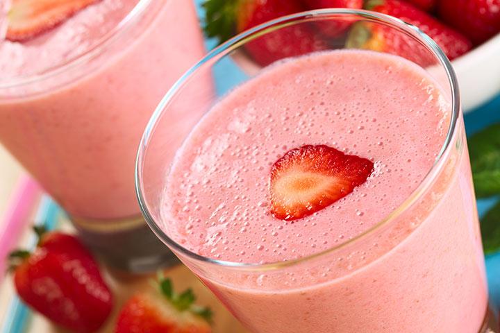 Yummy Strawberry Milkshake