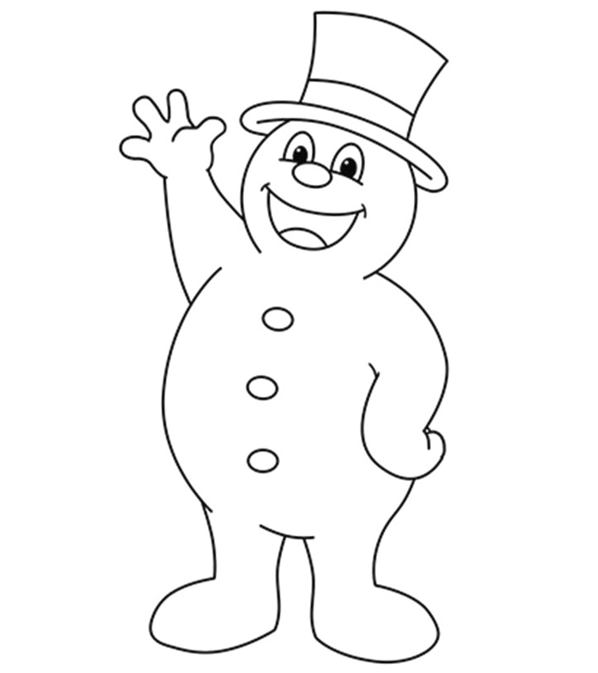 10 Cute Frosty The Snowman Coloring Pages For Toddlers