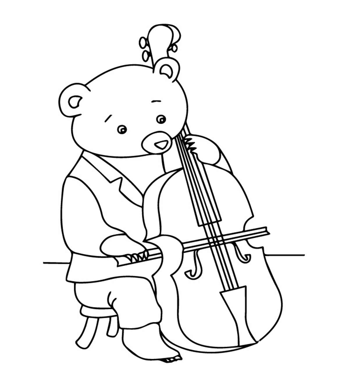 8 Lovely Violin Coloring Pages For Your Toddler