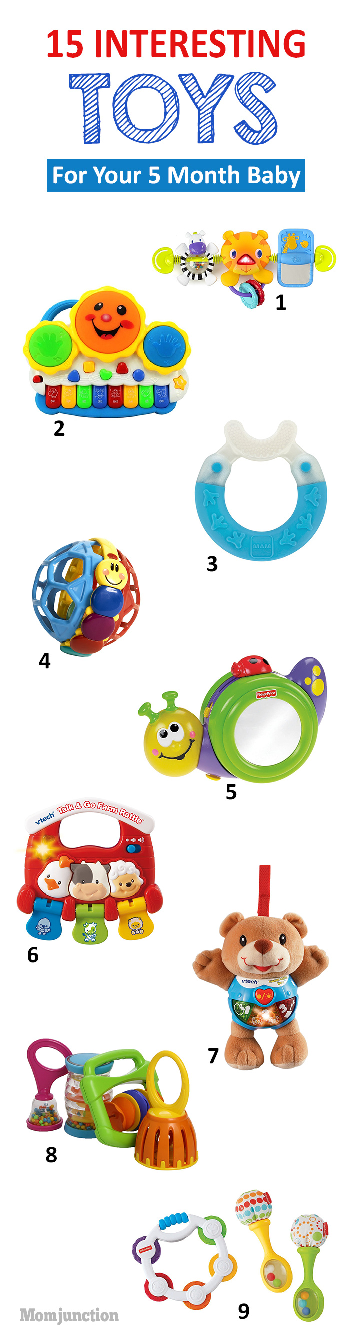 15 Interesting Toys For Your 5 Month Old Baby
