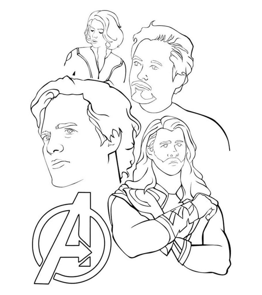 30 Wonderful Avengers Coloring