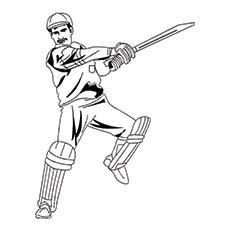 Cricket Coloring Page - A Cricket Batsman
